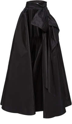 Marchesa Satin Bow Overskirt