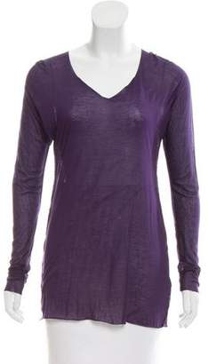 Yigal Azrouel Long Sleeve Scoop Neck Top