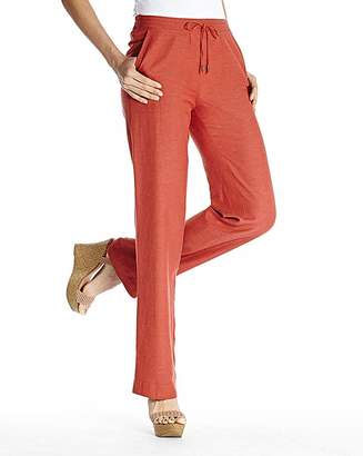 Fashion World Linen Mix Trousers Length Short