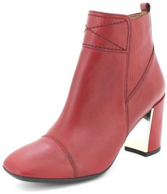 Hispanitas Deep-Red Ankle Booties