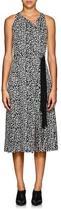 Derek Lam Women's Silk Jacquard Belted Dress - Black Multi