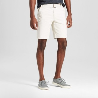Mossimo Supply Co. Men's Belted Flat Front Chino Shorts with Stretch - Mossimo Supply Co. $19.99 thestylecure.com