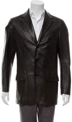 Valentino Leather Sport Coat