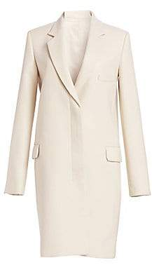 Helmut Lang Women's Essential Crombie Wool Coat