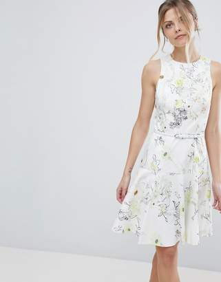 Coast Mezel Floral Print Skater Dress