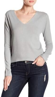 Cotton Emporium Back Cinch Long Sleeve Top