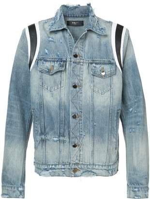 Amiri varsity denim trucker jacket
