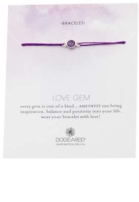 Dogeared Love Gem Amethyst Slide Bracelet