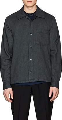 Acne Studios Men's Mélange Cotton Flannel Shirt