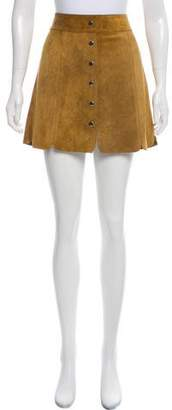 Etoile Isabel Marant Leather Scallop Skirt