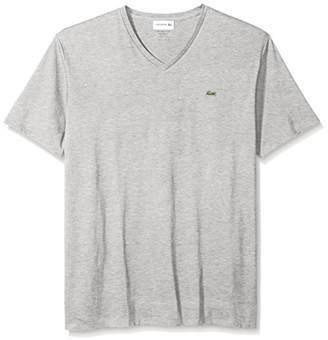 Lacoste Men's Short Sleeve V Neck Pima Jersey Shirt T-Shirt
