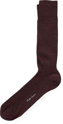 Ralph Lauren Ribbed Merino Wool Dress Socks