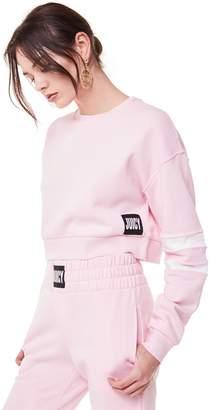 Juicy Couture Fleece Stripe Sleeve Pullover