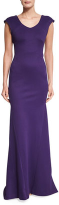 Zac Posen Cap-Sleeve Bandage Jersey Gown $2,990 thestylecure.com