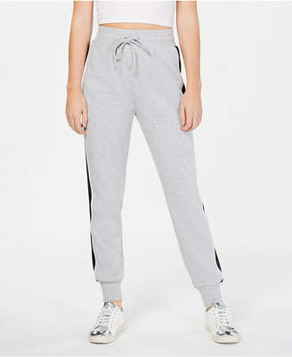 Material Girl Juniors' Side-Stripe Jogger Pants