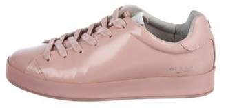 Rag & Bone Patent Leather Lace-Up Sneakers