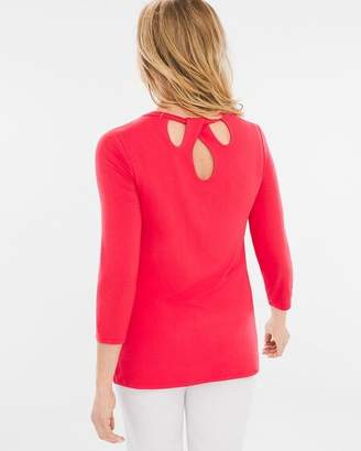 Chico's Chicos Back-Detail Top