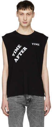 Saint Laurent Black Time After Time Muscle T-Shirt