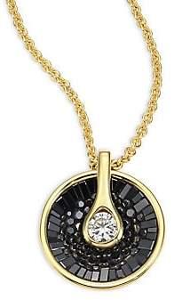 Black Diamond Plevé Women's Opus & 18K Yellow Gold Pendant Necklace