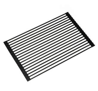 Kraus Silicone-Coated Stainless Steel Over the Sink Multipurpose Roll-Up Dish Rack