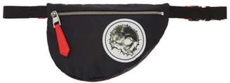 Alexander McQueen Black Mini Skull Badge Bum Bag