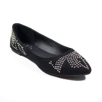 FFC New York Betty Studded Flats Shoes in Black Size 7