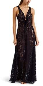 Raven & Sparrow by Stephanie Seymour Women's Paulie Lace Nightgown - Navy