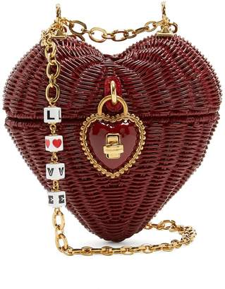 Dolce & Gabbana All the Lovers wicker basket bag
