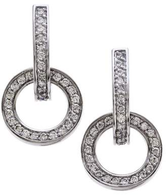 Movado Pave 18K White Gold with 0.85ct Diamond Earrings