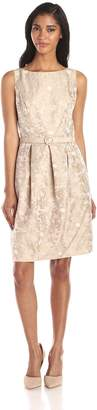 Eliza J Women's Sleeveless Lace Belted Tulip Dress