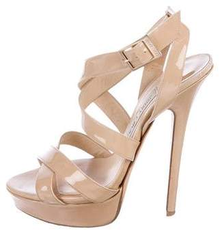 Jimmy Choo Patent Platform Sandals