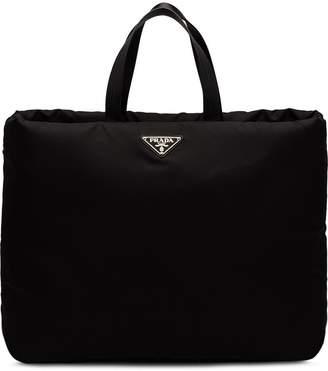Prada large padded tote bag