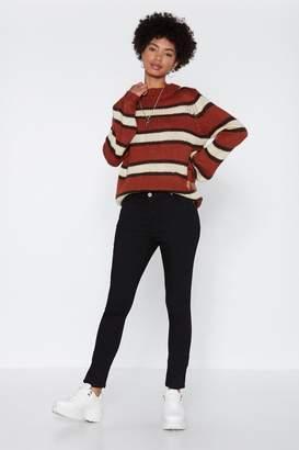 Nasty Gal A Leg in the Door Skinny Jeans