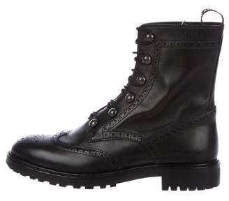 Christian Dior Brogue Ankle Boots