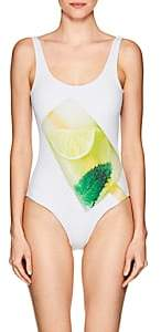 Onia WOMEN'S KELLY MOJITO POPSICLE-PRINT ONE-PIECE SWIMSUIT-WHITE MOJITO POPSICLE SIZE S