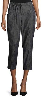 Eileen Fisher Tencel® Denim Crop Pants, Black $178 thestylecure.com