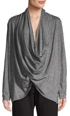 Copper Fit Pro Draped Cowlneck Top