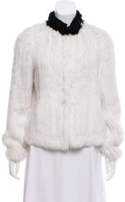 Zadig & Voltaire Knit Fur Jacket