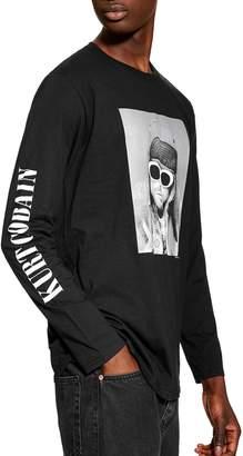 Topman Kurt Cobain Graphic Long Sleeve T-Shirt