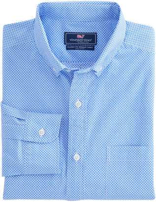 Vineyard Vines Mini Sailboat Print Classic Murray Shirt