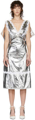 Calvin Klein Silver Space Blanket Dress