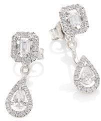 Messika My Twin Toi& Moi Small Diamond& 18K White Gold Stud& Ear Jacket Set