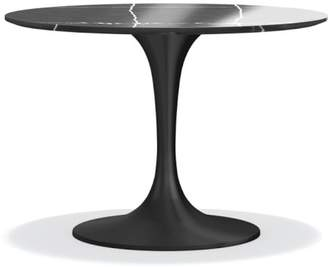 Williams-Sonoma Tulip Pedestal Round Dining Table, Black Marble