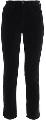 3x1 Cropped Cotton-blend Velvet Slim-leg Pants