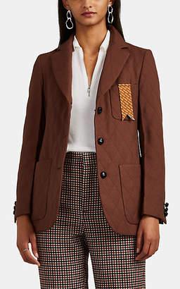 THE GIGI Women's Frida Quilted Three-Button Blazer - Brown
