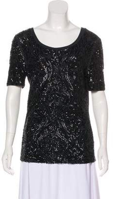 Tory Burch Wool-Blend Sequined Top