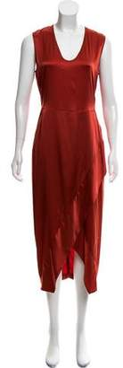 Zero Maria Cornejo Silk Metallic Midi Dress w/ Tags