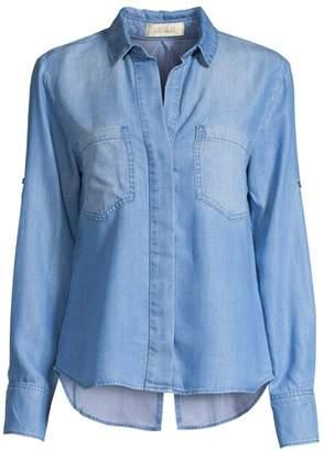 Bella Dahl Split Back Denim Button-Down Shirt