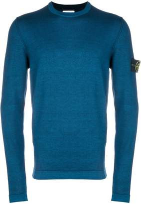 Stone Island crew neck logo sleeve sweater
