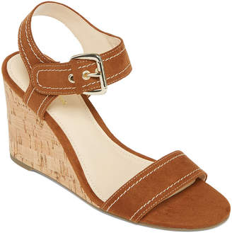 Liz Claiborne Womens Wilma Wedge Sandals